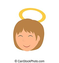 Angel icon Merry Christmas design Vector graphic - Merry...