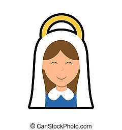 Maria icon. Merry Christmas design. Vector graphic - Merry...