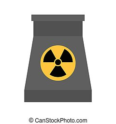 biohazard icon. Nuclear plant design. Vector graphic -...