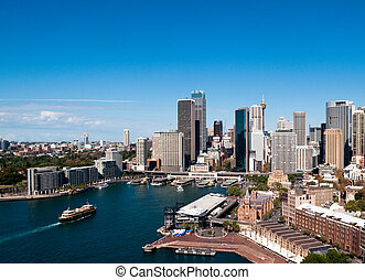 Circular Quay in Sydney - Circular Quay business district in...