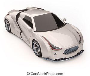 3D Concept Car - 3D illustration, concept car without...