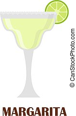 Margarita cocktail vector illustration. - Margarita drink...