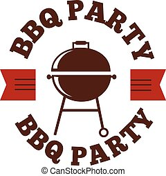 BBQ vector illustration set - Barbecue logo and grill labels...