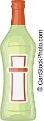 Martini bottle vector illustration - Alcohol martini bottle...