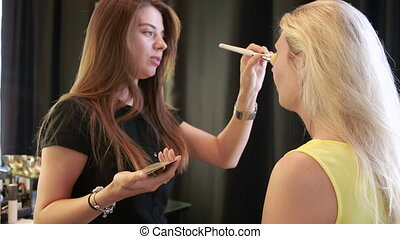 time in a beauty salon make-up artist and master of manicure...