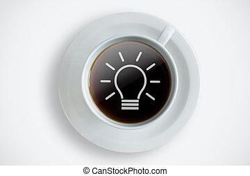 New ideas coffee break background