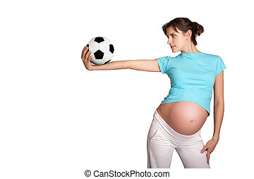 Volleyball player - Photo of pretty pregnant woman...