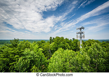 View from Garrison Hill Tower at Garrison Hill Park, in...