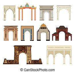 Arch vector set illustration - Arch vector set architecture...