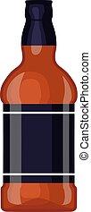Whiskey bottle vector illustration. - Full whiskey bottle...