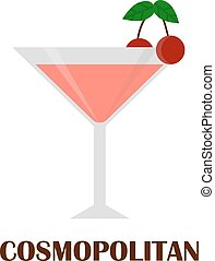 Cosmopolitan cocktail vector illustration. - Cosmopolitan...