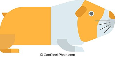 Guinea pig vector illustration - Guinea pig on white...