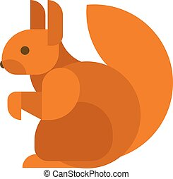 squirrel isolated vector illustration - Young squirrel...