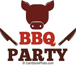 BBQ vector illustration set