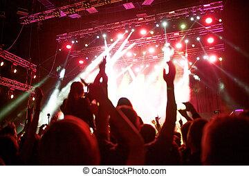 vestíbulo, concierto, Extracto, Aire, ventiladores, Plano de...