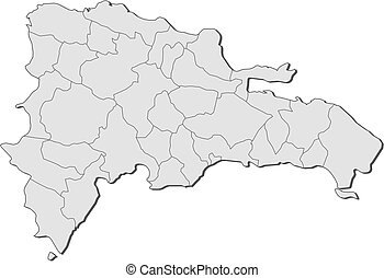 Map - Dominican Republic - Map of Dominican Republic with...