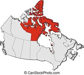 Map - Canada, Nunavut