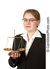 young female lawyer - young female business lawyer with...