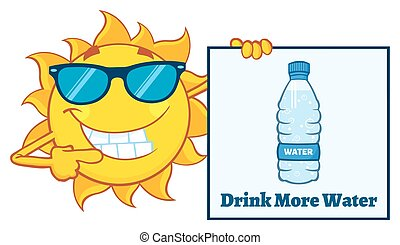Sun Character With Sunglasses - Talking Sun Cartoon Mascot...