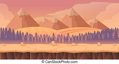 forest game background 2d application Vector design Tileable...