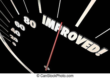 Improved Word Better Speedometer Progress 3d Illustration