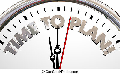 Time to Plan Clock Project Strategy Goal 3d Illustration