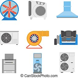 Industrial fan vector illustration. - Industrial fan to...