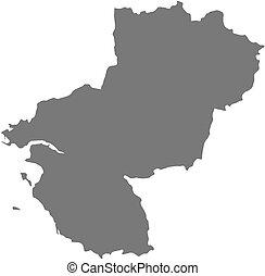 Map - Pays de la Loire (France)