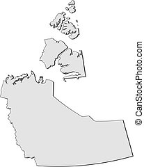 Map - Northwest Territories (Canada) - Map of Northwest...