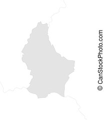 Map - Luxembourg - Map of Luxembourg with the nearby...