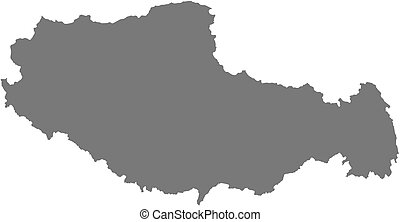 Map - Tibet China - Map of Tibet, a province of China