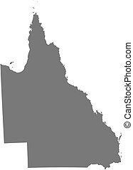 Map - Queensland (Australia) - Map of Queensland, a province...