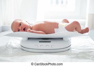 Weighting Baby Girl On Scale
