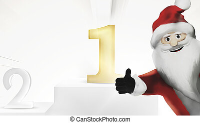 1st place best united kingdom Santa Claus 3d render