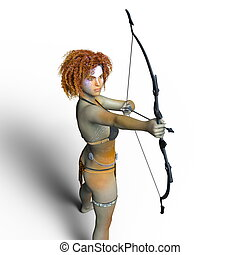 Master archer - 3D CG rendering of a master archer