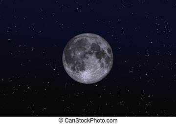 the silver moon 2 - moon on the night sky