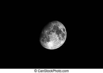 the silver moon 1 - moon in the sky night