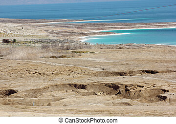 environmental catastrophe on the Dead Sea, Israel -...
