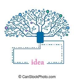 Abstract tree chip idea