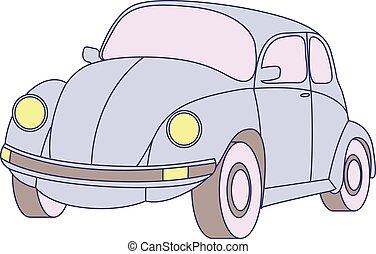 car blue vintage