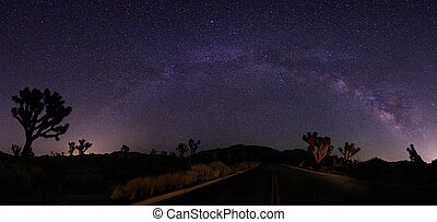 Light Painted Landscape of Camping and Stars - Illuminous...