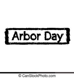arbor day Illustration design