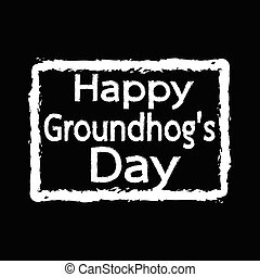 happy Groundhog Day Illustration design