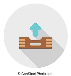 Outbox Files FLat Icon - Outbox Files FLat Style Design Icon