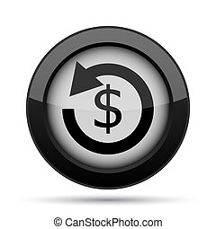 Refund icon Internet button on white background