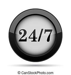 24 7 icon Internet button on white background