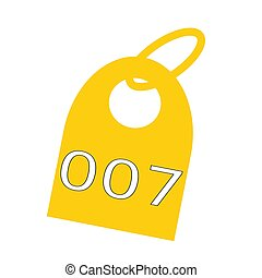 tecla, Corrente, amarela,  007, fundo, branca, fraseio