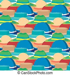 Seamless textile pattern with vector modern flat design of...