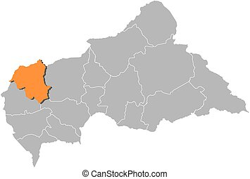 Map - Central African Republic, Ouham-Pende - Map of Central...