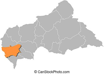 Map - Central African Republic, Mambere-Kadei - Map of...